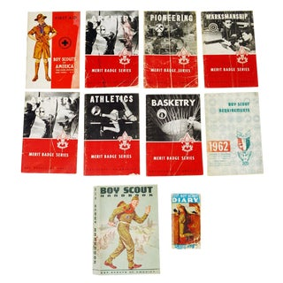 BSA Boy Scout Merit Badge Books, Handbook and Diary For Sale