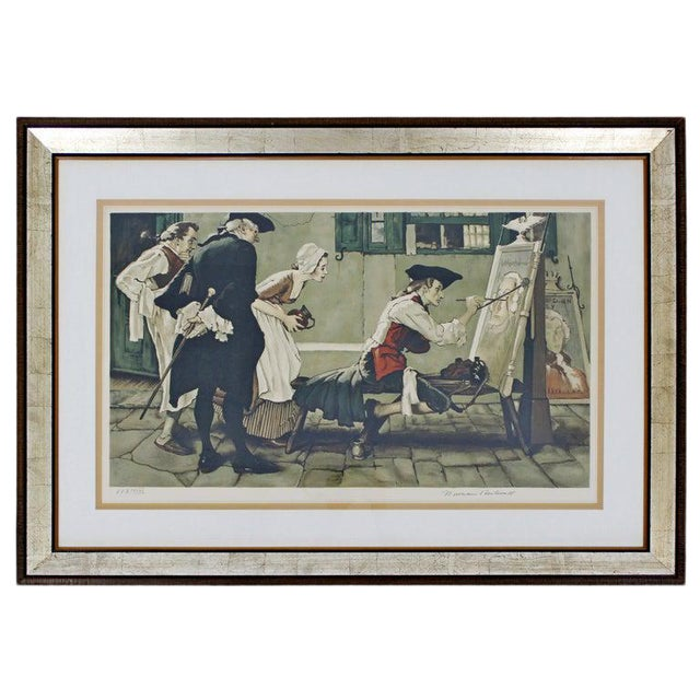 20th Century Framed Modern Illustration A.P. Litho Signed Norman Rockwell, 1936 For Sale