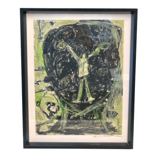 """Original Abstract Expressionist Drawing """"Inner Joy"""" by Ellen Reinkraut For Sale"""