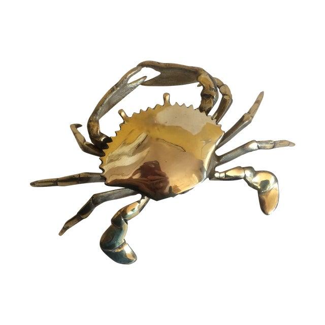 Coastal Living Brass Crab Ash Tray - Image 1 of 9