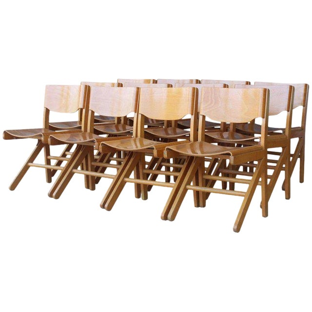 Dining Chairs by Joamin Baumann, France, 1960s For Sale