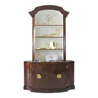 Stunning Paul Frankl Mahogany Bookcase, Dining Hutch For Sale