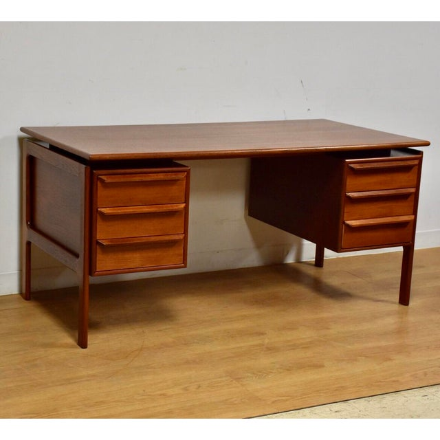 Danish Modern Teak Executive Desk by g.v. Gasvig For Sale - Image 11 of 11