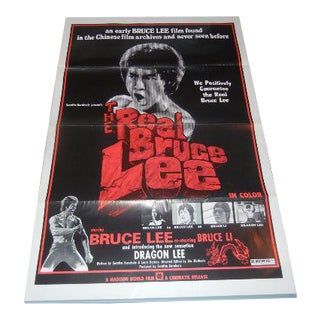 "1973 ""The Real Bruce Lee"" Authentic Movie Poster"