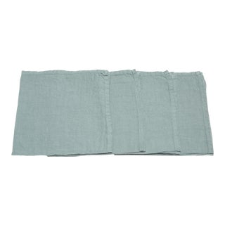 Once Milano Linen Napkins in Sage - Set of 4 For Sale