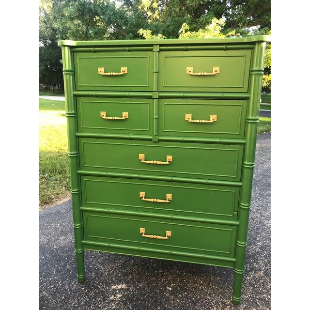 Vintage Henry Link Bali Dresser and Night Stand Dresser 47H/34L/19D Night Stand 25H/24L/16D