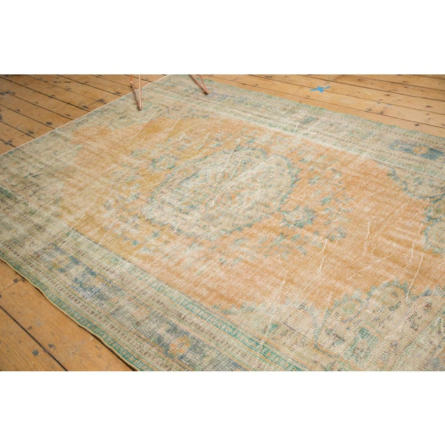 "Vintage Distressed Oushak Carpet - 6'3"" X 8'6"" - Image 5 of 11"