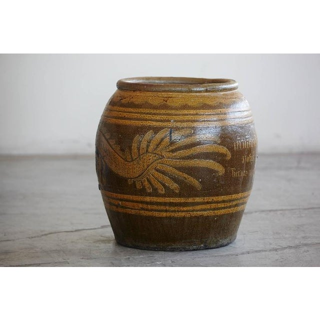 1950s Korean Glazed Clay Dragon Water Jar For Sale - Image 5 of 8