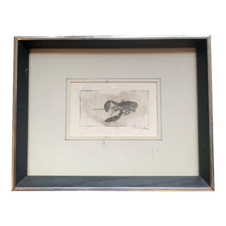 Framed Lobster Print For Sale