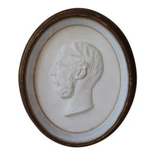 Antique Plaster Frieze of Prince Albert