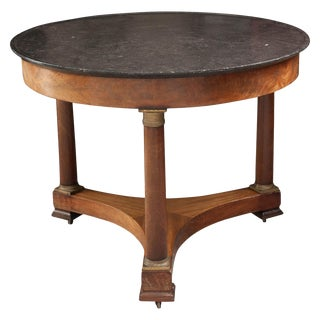 19th Century French Empire Mahogany Center Table For Sale