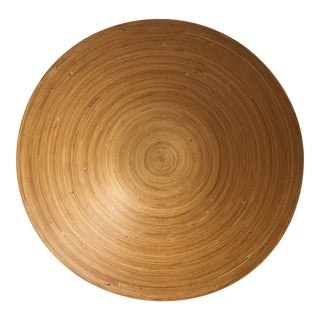 Giant Boho Chic Bamboo Bowl For Sale