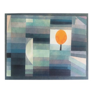 """Paul Klee Rare Vintage 1969 Abstract Modernist Lithograph Print """" the Messenger of Autumn """" 1922 For Sale"""