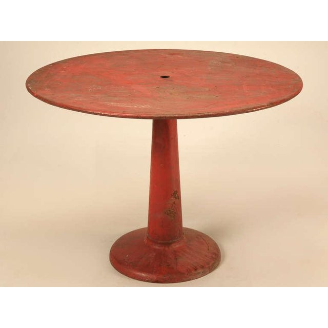French Mid-Century Industrial Steel Table and Chairs - 7 pieces For Sale - Image 4 of 12