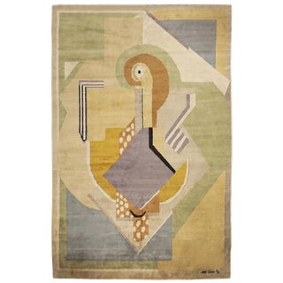 Boccara Limited Edition Artistic Handmade Wool Rug After Albert Gleizes - N.35 For Sale