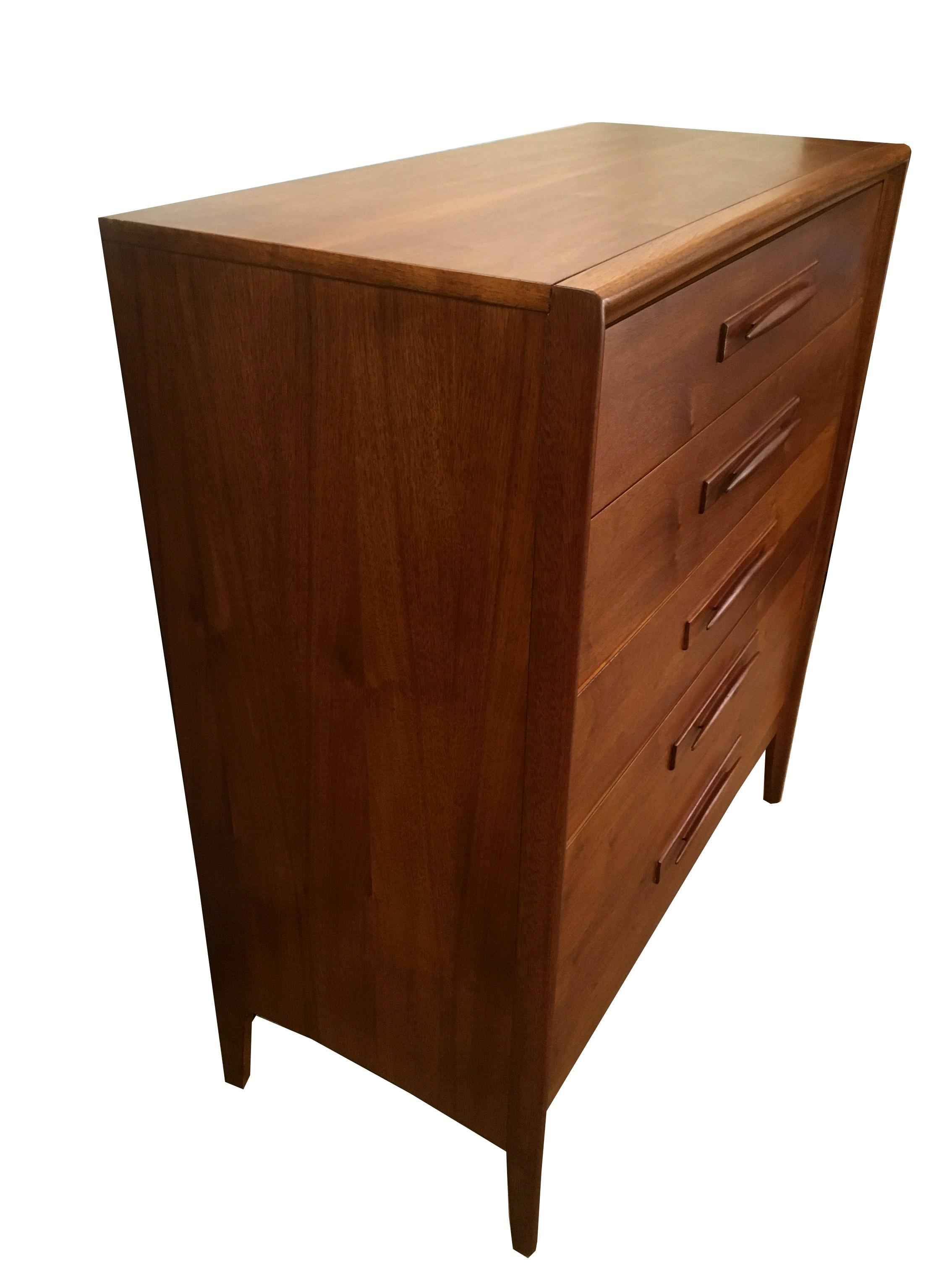 Broyhill Emphasis Walnut High Boy Dresser Chairish