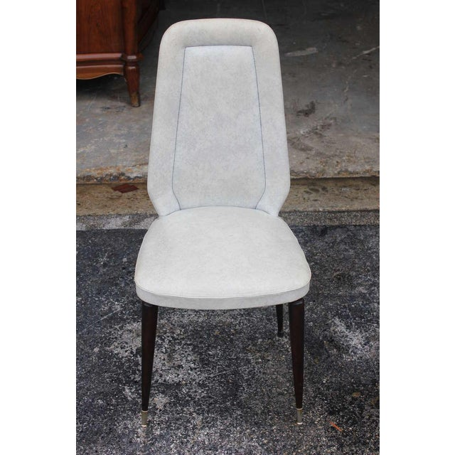 Suite of Six French Art Deco/Art Modern Solid Mahogany Dining Chairs. - Image 2 of 10