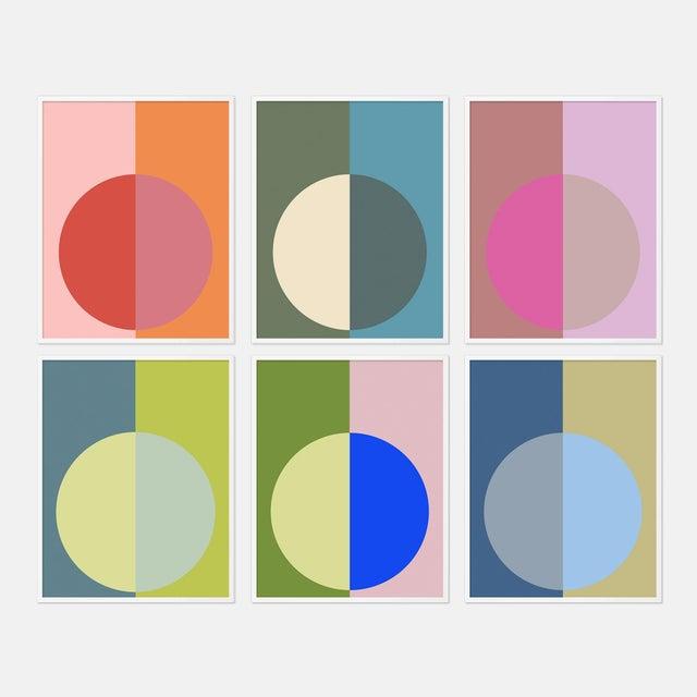 Hot Forevers Set of 6 by Stephanie Henderson in White Frame, Medium Art Print For Sale - Image 9 of 9