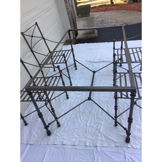 Neoclassical Iron Table & Chairs For Sale - Image 11 of 11