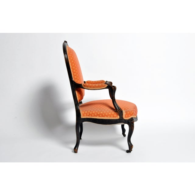 Louis XV Style Fauteuil With Cabriole Legs For Sale - Image 4 of 11