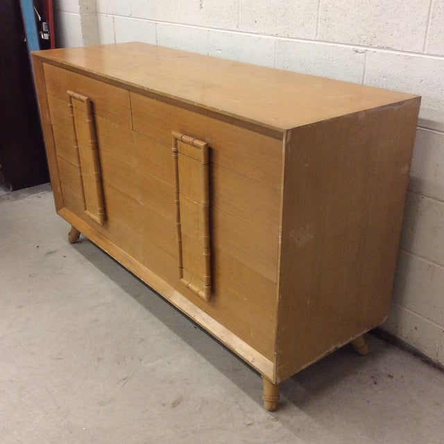Faux Bamboo Dresser & Nighstand For Sale - Image 4 of 13