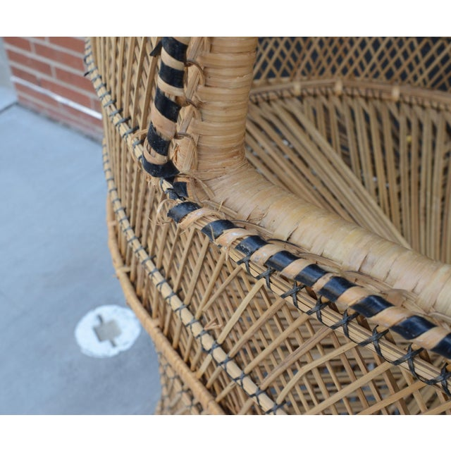 Vintage Woven Wicker Freestanding Bassinet For Sale - Image 4 of 9