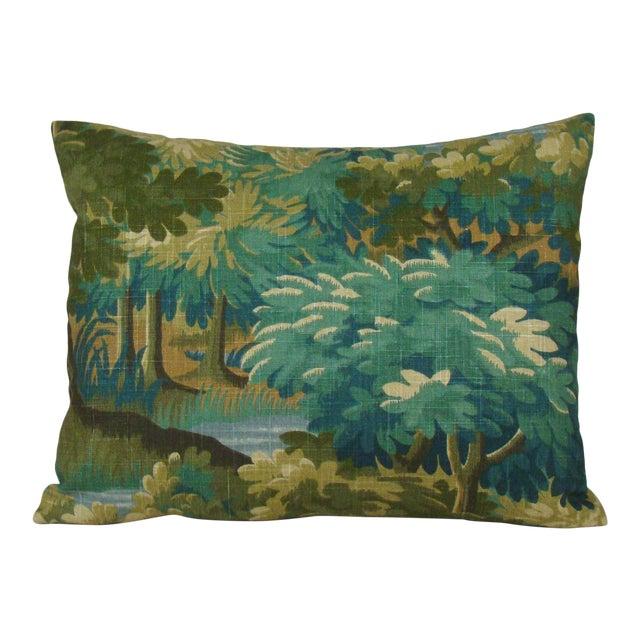 Verdure Print Linen Large Lumbar Pillow Cover For Sale