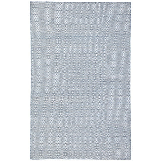 Jaipur Living Eulalia Handmade Geometric Blue & Ivory Area Rug - 9′ × 12′ For Sale In Atlanta - Image 6 of 6
