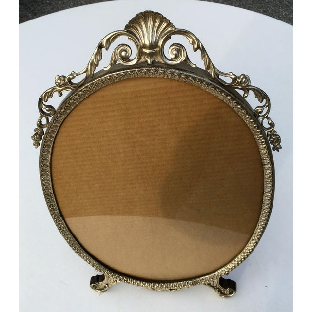 Art Deco Early 20th Century Art Nouveau/Art Deco Silver Gilded Standing Photo Frame For Sale - Image 3 of 13