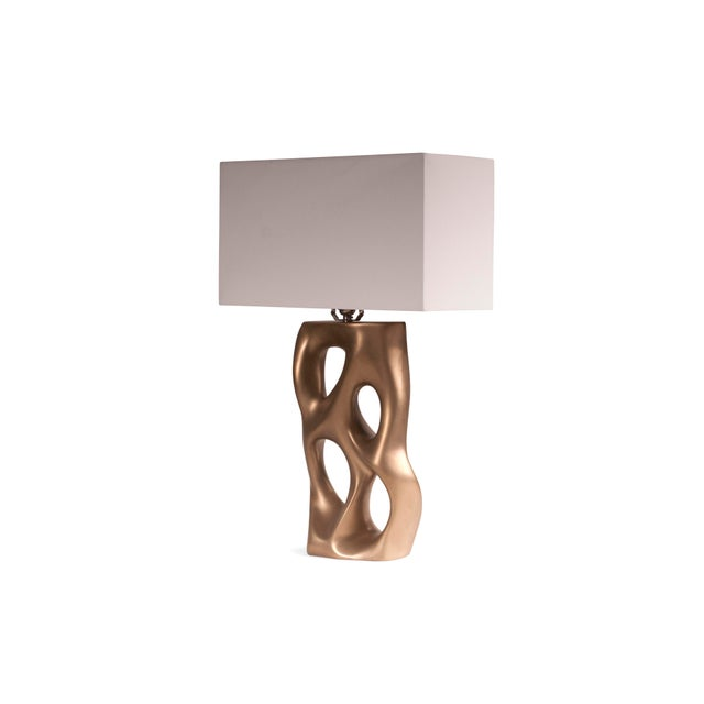 Contemporary Amorph Loop Table Lamp - Gold For Sale - Image 3 of 8