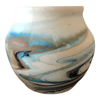Vintage Nemadji Pottery Vase For Sale
