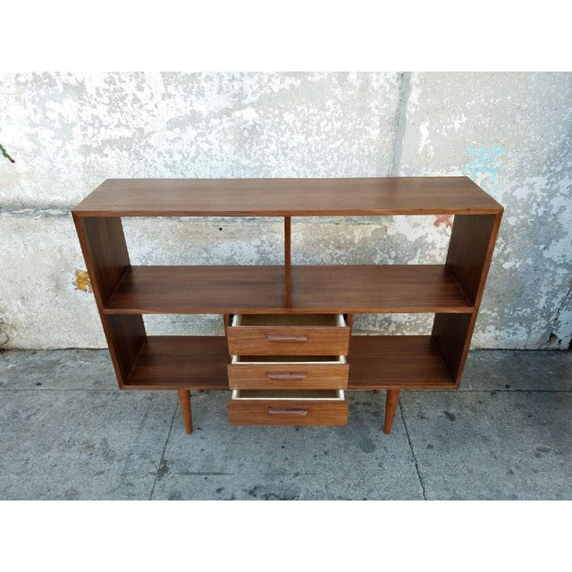 Mid century Handmade walnut shelving made in Los Angeles Perfect and beautiful shelving!