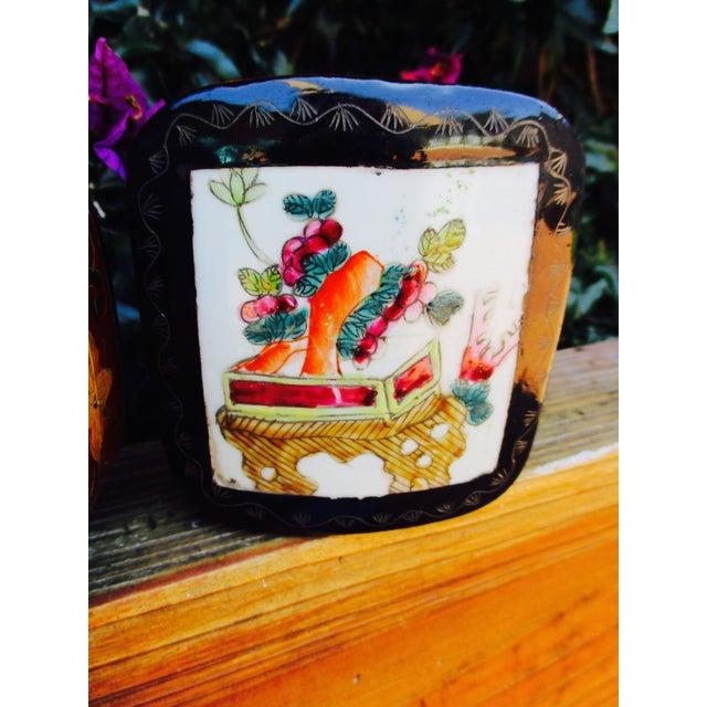 Porcelain Lacquer Glam Trinket Boxes - Set of 3 - Image 6 of 11