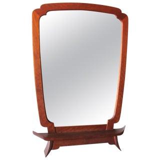Steph d'Ascanio Studio Craft Teak Mirror For Sale