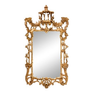 Italian Chinese Chippendale Giltwood Mirror For Sale