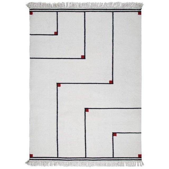 "Red VIBEKE KLINT ""VERTIGO"" FLAT-WEAVE CARPET, 1970S For Sale - Image 8 of 8"