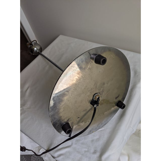 1980s Postmodern Sonneman Style Polished Chrome Table Lamp For Sale - Image 10 of 11