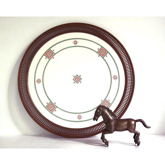 Antique Art Deco Porcelain & Copper Tray For Sale - Image 4 of 7