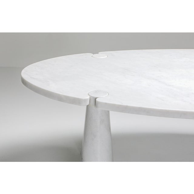 Carrara Marble Dining Table by Angelo Mangiarotti - 1970s For Sale - Image 9 of 13
