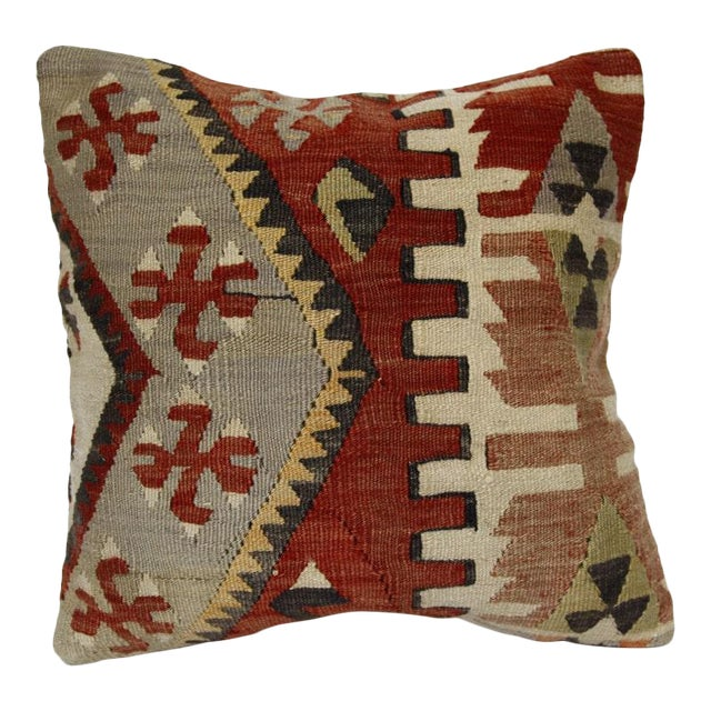 1970s Handmade Kilim Pillow Cover For Sale