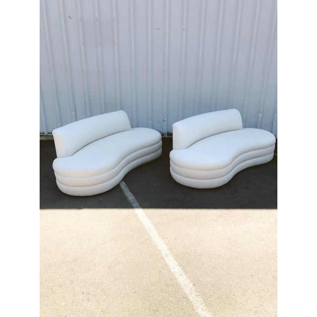 Modern Curved Couches After Vladimir Kagan - a Pair For Sale - Image 3 of 13