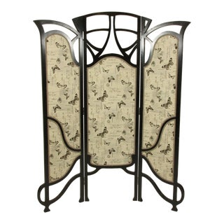 1920s French Art Nouveau Room Screen For Sale