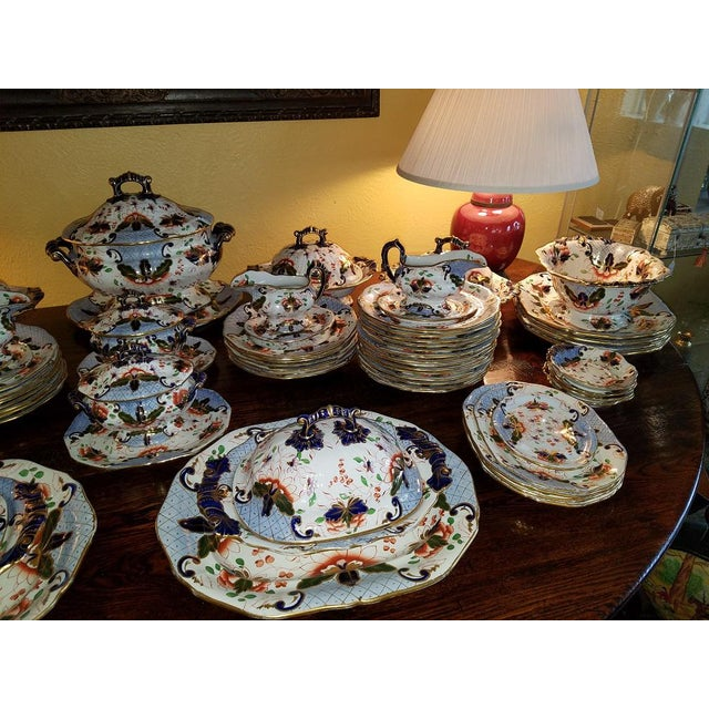 Traditional Large Early 19c Davenport Longport Imari China Dinner Service For Sale - Image 3 of 13