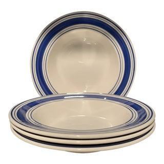 Ralph Lauren Home Farmstead Rimmed Soup / Pasta Bowls - Set of 4 For Sale