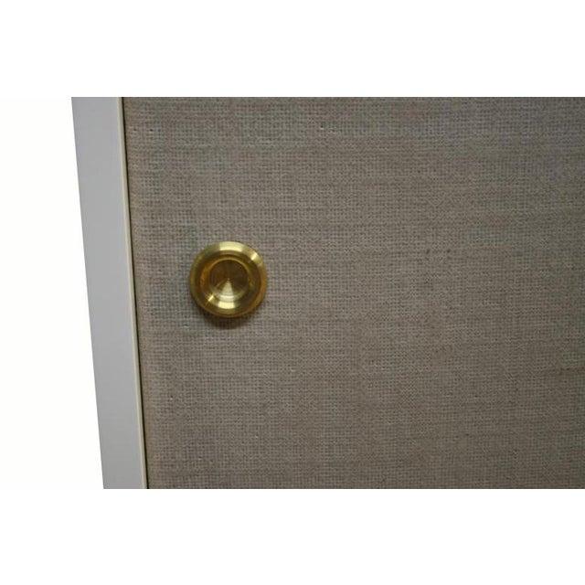 Mid-Century Modern Bishop Linen Door Console For Sale - Image 3 of 6