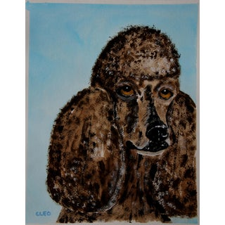 Poodle Portrait in Chocolate by Cleo Plowden For Sale