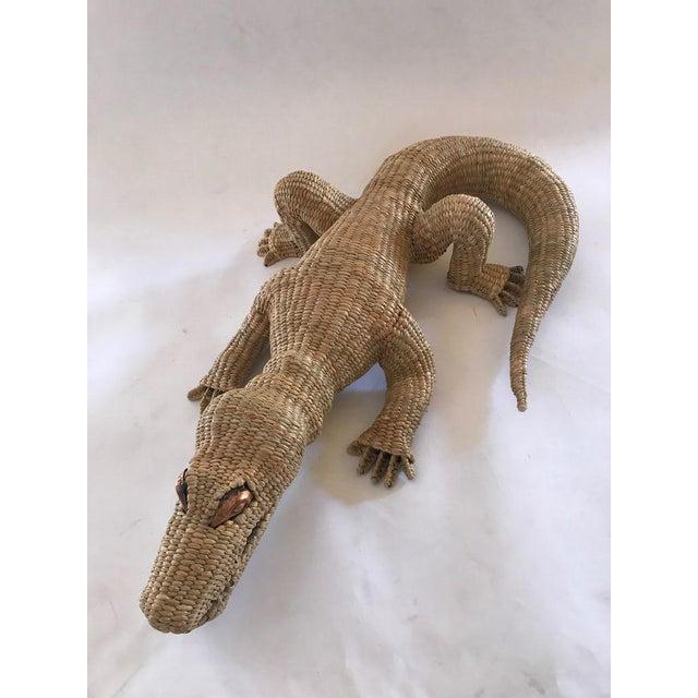 Mario Lopez Torres Folk Art Mario Lopez Torres Crocodile For Sale - Image 4 of 7
