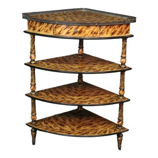 French Hollywood Regency Style Corner Etagere For Sale