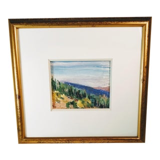 Late 20th Century Vintage Horowitz Pastel Painting For Sale