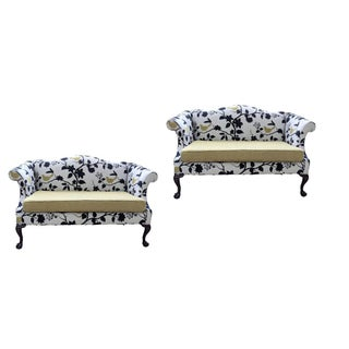 1940s Restored Chippendale Settees - a Pair For Sale